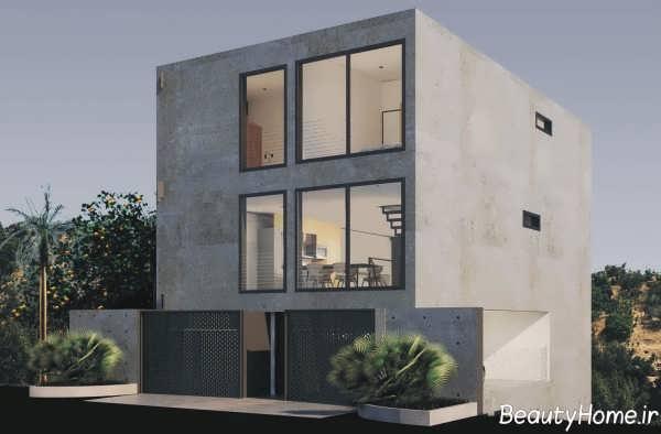 نمای ساده ساختمان ویلایی