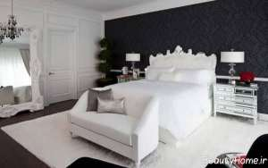 دکوراسیون مشکی و سفید اتاق خواب