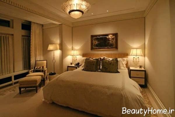 نورپردازی مخفی و زیبا اتاق خواب