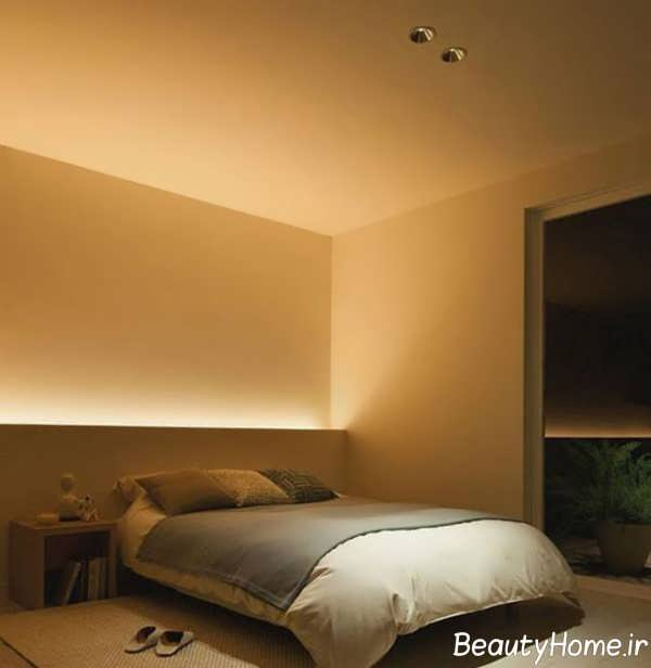 نورپردازی مخفی برای اتاق خواب