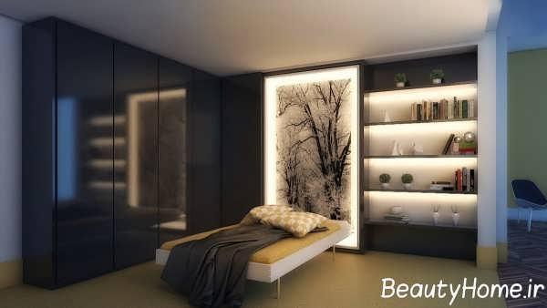 نورپردازی زیبا و شیک اتاق خواب