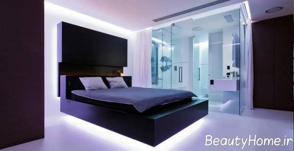 نورپردازی مخفی و زیبا برای اتاق خواب