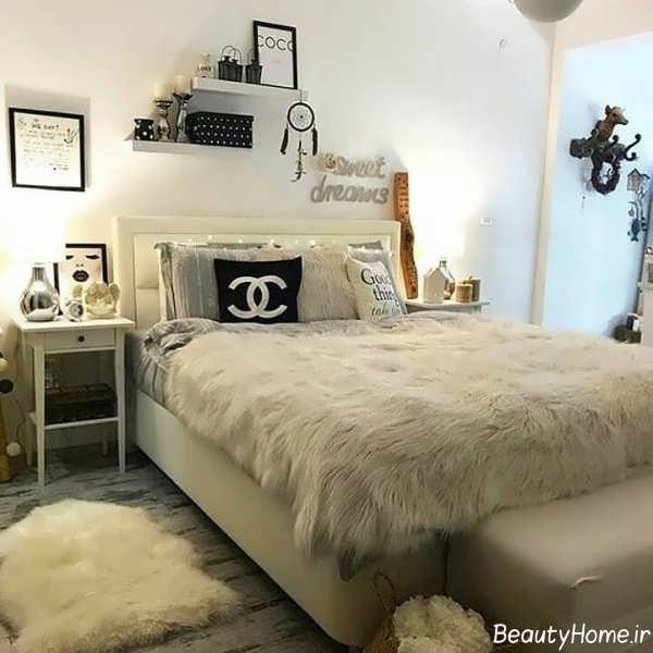 طراحی دکوراسیون اتاق خواب با خز
