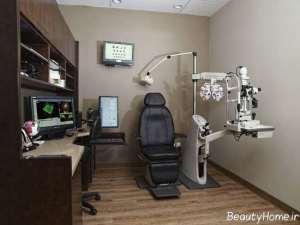 دکوراسیون داخلی مطب چشم پزشکی