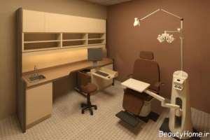 طراحی داخلی مطب چشم پزشک