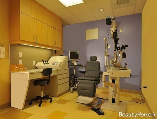 طراحی نورپردازی مطب چشم پزشکی