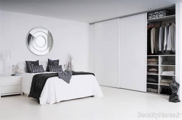 کمد دیواری ساده و سفید