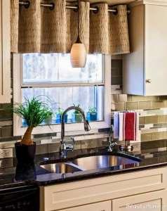 مدل پرده زیبا و کوتاه برای آشپزخانه