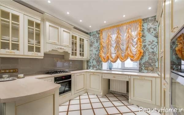 مدل پرده سلطنتی برای آشپزخانه
