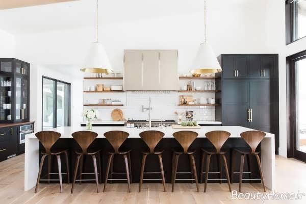 دکوراسیون زیبا و مدرن آشپزخانه