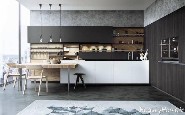دکوراسیون زیبا و لوکس آشپزخانه