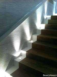 نورپردازی زیبا راه پله
