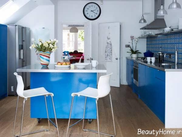 دکوراسیون آبی آشپزخانه