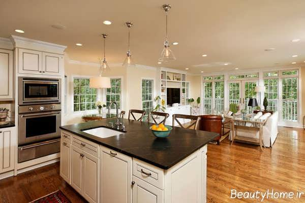 دکوراسیون لوکس و مدرن آشپزخانه