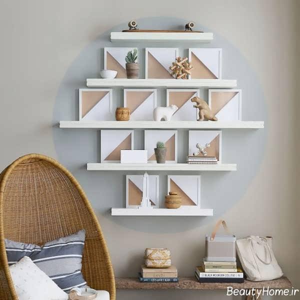 مدل شلف دیواری سفید