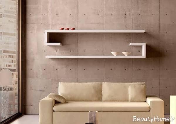مدل شلف دیواری ساده