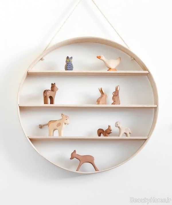 مدل شلف دیواری برای اتاق کودک
