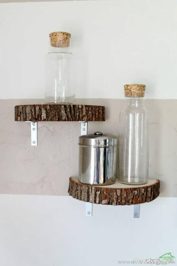 مدل شلف دیواری چوبی