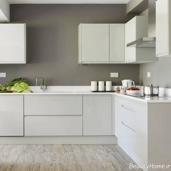 کابینت آشپزخانه سفید و مدرن