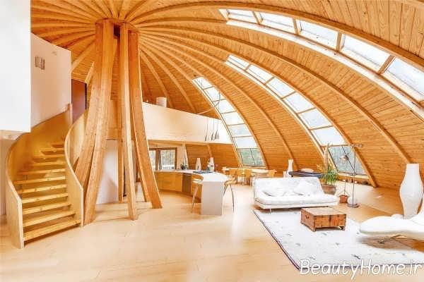 دیزاین چوبی اتاق پذیرایی