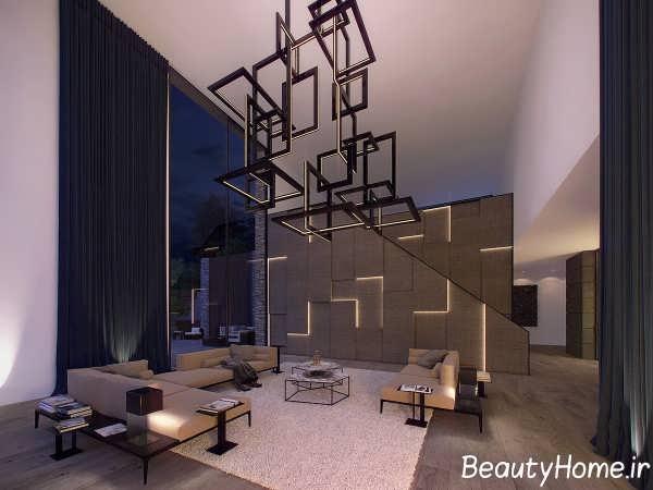 دیزاین نوری متفاوت در اتاق نشیمن