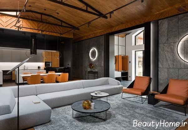 اتاق پذیرایی چوبی