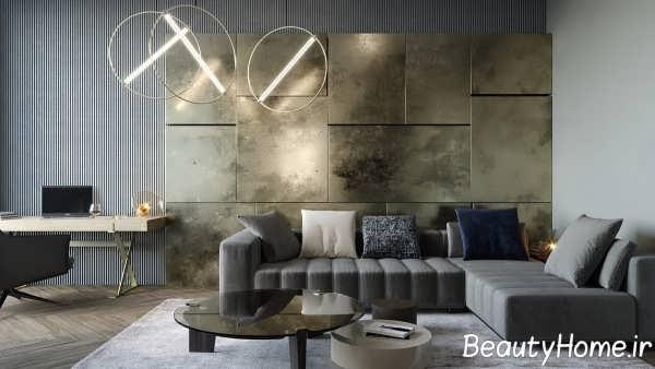 نورپردازی مدرن در اتاق پذیرایی