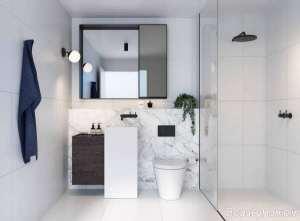 دکوراسیون حمام با رنگ سفید