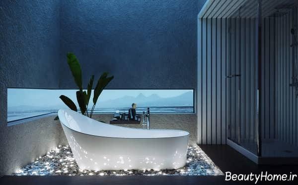 دکوراسیون زیبا و لوکس حمام