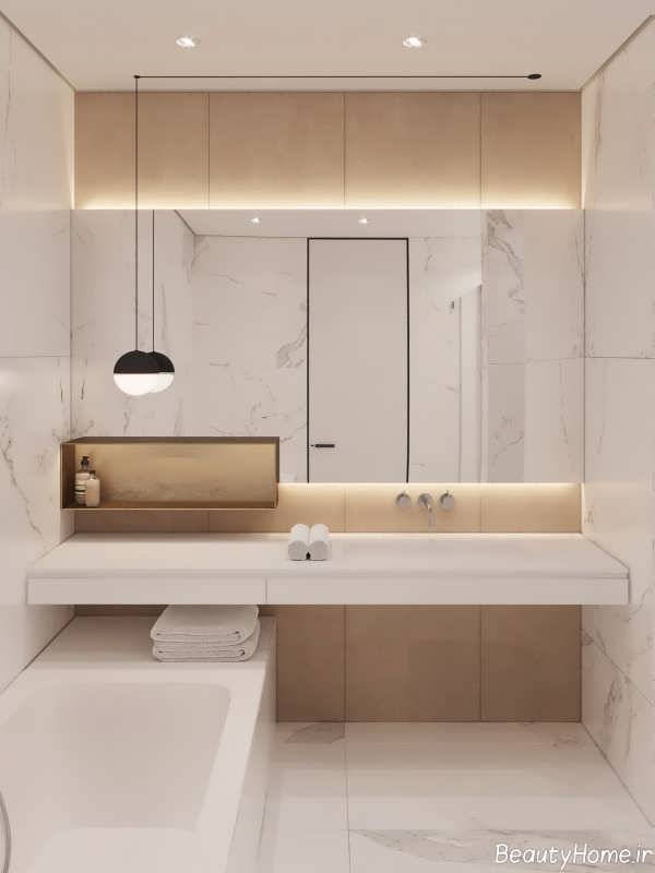 طراحی نورپردازی برای حمام