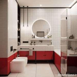 طراحی دکوراسیون حمام شیک و لاکچری