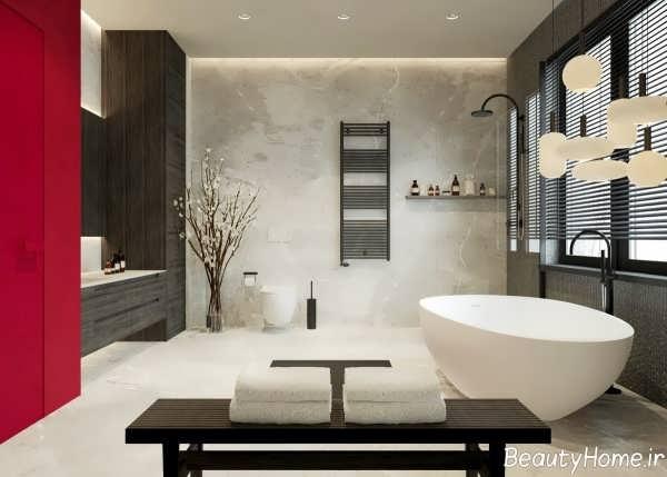 طراحی داخلی زیبا و شیک حمام