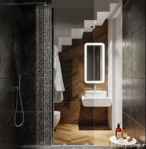 دکوراسیون حمام 2019 با رنگ های تیره و روشن