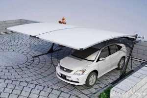 سایبان سفید و ساده برای خودرو