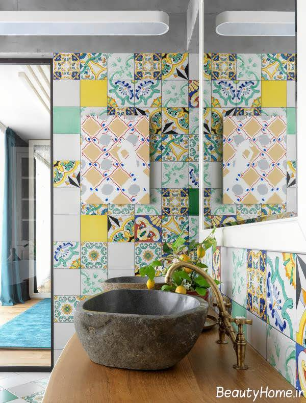 حمام زیبا و رنگارنگ