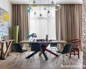 میز با تم رنگی