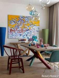اتاق رنگی نشیمن