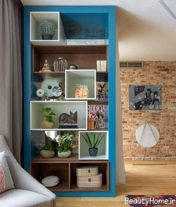 دکوراسیون آبی رنگ اتاق