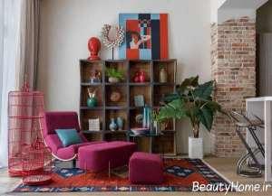 طراحی زیبای منزل با رنگ های شاد