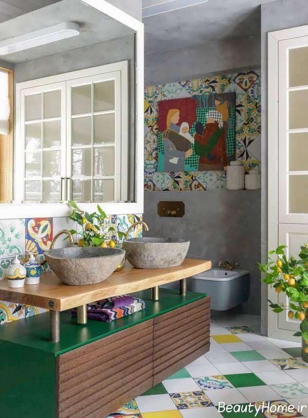 دکوراسیون مدرن با ترکیب رنگ های شاد