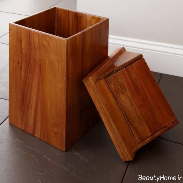 سطل زباله ساده و خانگی