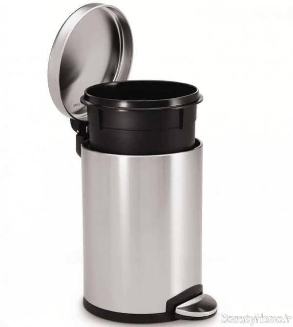 سطل زباله خاکستری