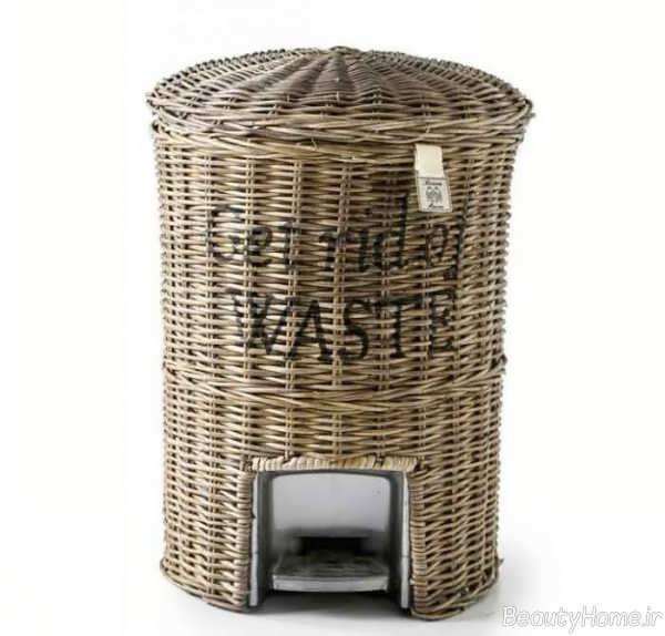 سطل زباله حصیری