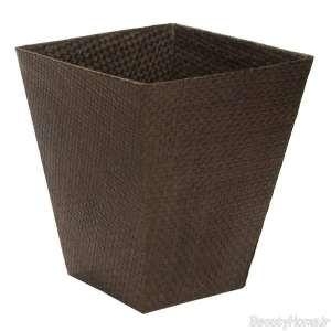 سطل زباله قهوه ای