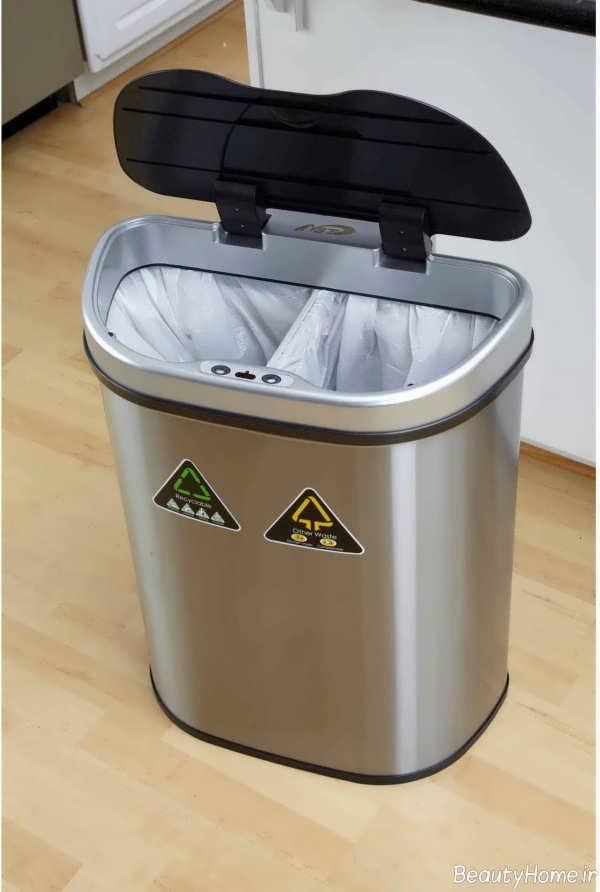 سطل آشغال خاکستری