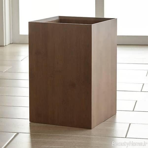 سطل چوبی زباله