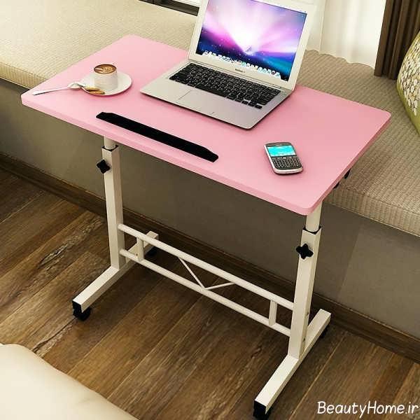 مدل میز صورتی و سفید لپ تاپ
