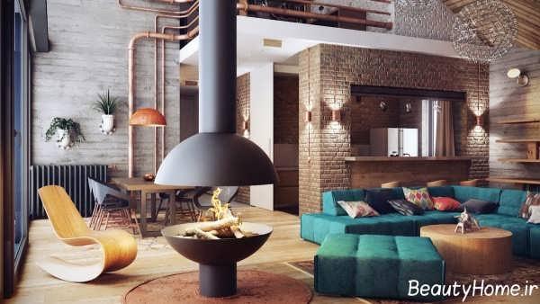 طراحی داخلی زیبا و شیک نشیمن 2019