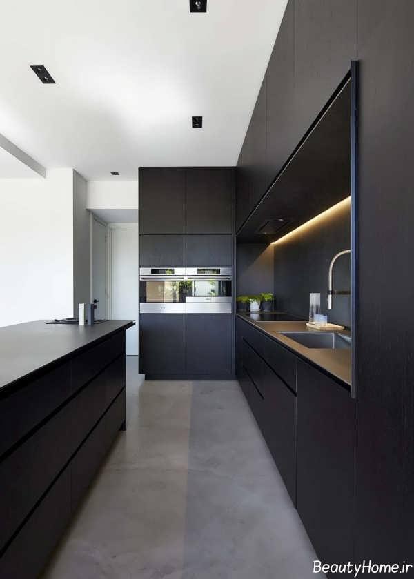 دکوراسیون زیبا و مدرن آشپزخانه اروپایی
