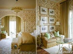 مدل کاغذ دیواری طلایی